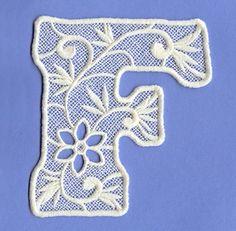 Floral Lace Letter F