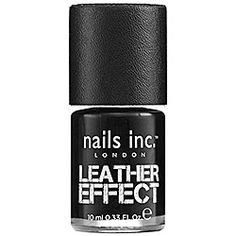 nails inc. - Leather Polish. in Noho - black leather . so cool!