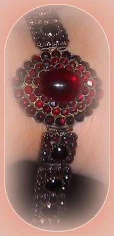Gorgeous Bohemian Garnet bracelet