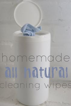 Homemade all natural cleaning wipes.  Best tutorial I've seen for this!