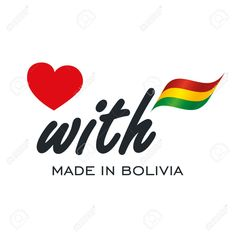 Love With Made in Bolivia logo icon Stock Vector - 82976689