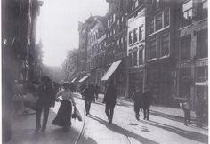 Amsterdam, Haarlemmerstraat ter hoogte van de Binnen Wieringerstraat rond 1906. Foto: Breitner