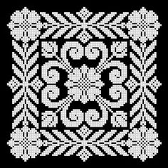Lace Patterns, Embroidery Patterns, Hand Embroidery, Cross Stitch Designs, Cross Stitch Patterns, Creative Embroidery, Cross Stitch Flowers, Filet Crochet, Double Knitting