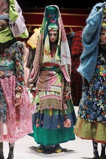 Kenzo  love the layers of color, print and texture
