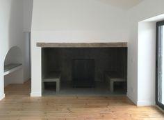 Casa de Fronteira; House; lareira; Fire place; betão; concrete