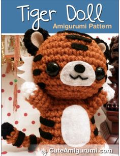 Super cute DIY Tiger Doll Amigurumi Pattern