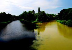 Pestrobarevný soutok Labe a Orlice Czech Republic, Praha, Water, Outdoor, Scenery, City, Viajes, Gripe Water, Outdoors