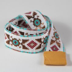 Gallup Native American Style Beaded Cowboy Hatband Bead Loom Cowgirl Artisanal Jewelry Indian Western Southwestern Rodeo Horses Hat Band by PuebloAndCo on Etsy https://www.etsy.com/listing/254041162/gallup-native-american-style-beaded