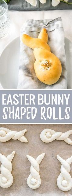 These Easter Bunny Rolls are so easy to make and perfect for brunch or dinner! Made from fool-proof homemade yeast dough, these cute bunny-shaped rolls are buttery, fluffy, and so cute with their salty tails.