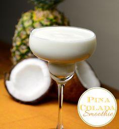 Healthy Pina Colada Smoothie Recipe #recipe #drinks