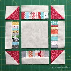 crazy mom quilts: scrappy churn dash block--a tutorial
