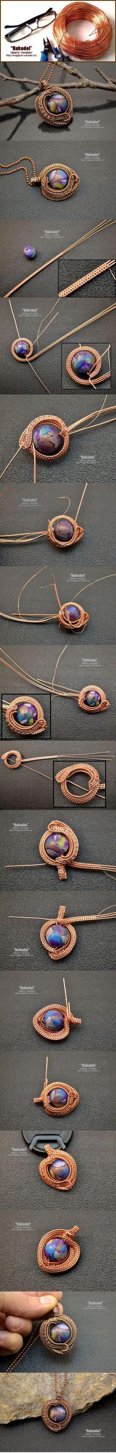DIY Bijoux  Wire Wrap Pendant  magazin-rukodel.ru/