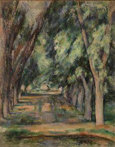 The Allée of Chestnut Trees at the Jas de Bouffan (L'allée des marronniers au Jas de Bouffan) by Paul Cézanne, Barnes Foundation