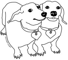 12 Best Dachshund Coloring Pages Images Drawings Coloring
