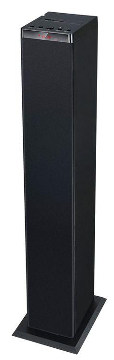 """Kaiutintorni, 39,95 €. Kaksi 3"""":n elementtiä. Bluetooth ja led-näyttö. Toistaa sd-kortilta/usb-muistilta. Kaukosäädin. Koko: 100,5 x 11,8 x 15 cm. Norm. 79,95 €. Clas Ohlson, 3. KRS"""
