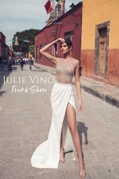 065864c446e4 Israeli Wedding Dress Designer Julie Vino 2019 Bridal Trunk Show Event at  Jessica Haley Bridal Salon in Rye, New York