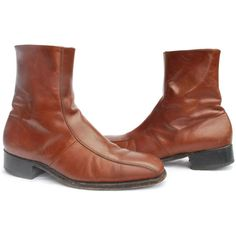 My father wore these leather Florsheim Imperial ankle boots. All the time. Mostly in black. They were his go-to shoes. I think he always had 3 pair or so. Now it's hard to get him out of running shoes! From GrannysBootery on etsy.