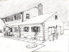 2 Point Perspective - House by Pockyshark