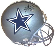 Troy Aikman Autographed Dallas Cowboys Authentic Proline Helmet with SB XXVII MVP and HOF 06 Inscription -- Check out this great product. (This is an affiliate link and I receive a commission for the sales)