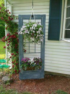 Flowers hanging on door frame