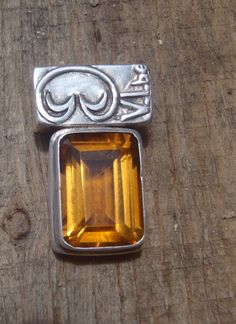 Emerald Cut Citrine Pendant by VibeCollection on Etsy, $248.00