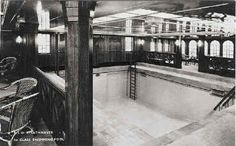 Indoor swimming pool SS Strathnaver