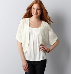 Seed Stitch Cocoon Open Cardigan! This lightweight, comfortable sweater and will give  a modern look over a sleeveless blouse or dress for spring and summer