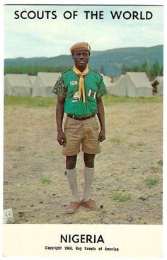 1968 Boy Scouts of the World Nigeria Postcard by OakwoodView