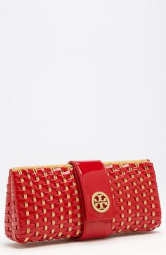 INSPIRATION: Tory Burch Woven Patent Clutch | Nordstrom. Love, love, love.