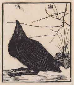 Untitled - The Crow and Fly, 1918 - Jan Mankes (1889-1920)