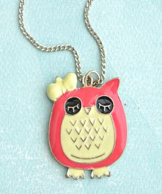 kawaii owl necklace