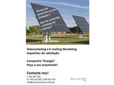 """Campanha """"Energia""""  Telemarketing  E-mailing Marketing  Inquéritos de satisfação"""