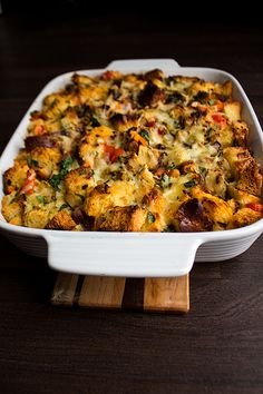 savoury bread pudding or strata? by lizziemoch, via Flickr