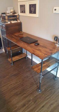 Reclaimed Wood Desk Rustic Pipe Etsy