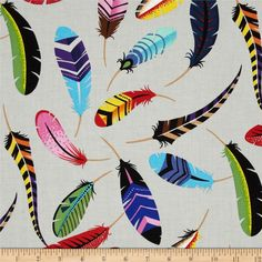 Natura Iroquois Brite from @fabricdotcom  Designed by the DeLeon Design Group for Alexander Henry, this cotton print is perfect for quilting, apparel and home decor accents.  Colors include grey, black, green, pink, red, brown, blue, purple, orange and yellow.