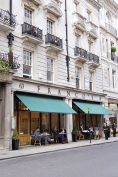 Outside tables Franco's Jermyn Street