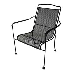 shop garden treasures davenport matte black steel stackable dining chair at lowescom - Stackable Patio Chairs