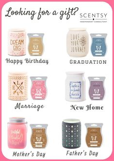Wickless candles and scented fragrance wax for electric candle warmers and scented natural oils and diffusers. Shop for Scentsy Products Now! Scentsy Australia, Scented Wax Warmer, Scentsy Independent Consultant, Fragrance, Scentsy Games, Scentsy Bar, Yankee Candles, Soy Candles, Party Games