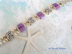 Two Strand Purple Jade Bracelet with Pearls / by ARexrodeCreations