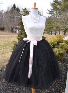 Womens Tutu Black Tulle skirt tulle skirt by MaidenLaneBoutique