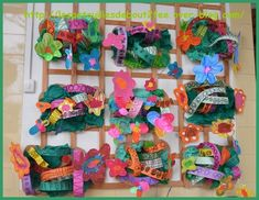 Spring Art, Spring Crafts, Art Activities For Kids, Art For Kids, Garden Projects, Art Projects, Kindergarten, Ecole Art, Arts Ed