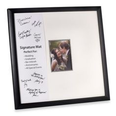 Signature Frame - for everyone to write well wishes to the baby and parents-to-be.  You can add a heading to it in the nursery colors so people know what to write.