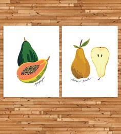 Fruits Art Print Set by Idlewild Co. on Scoutmob