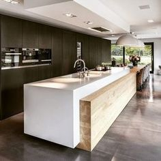 Minimalist Kitchen Design and Style, Contemporary Kitchen Designs 2018 What for Dummies - kindledecor Kitchen Room Design, Home Decor Kitchen, Interior Design Kitchen, Kitchen Designs, Kitchen Ideas, Luxury Kitchen Design, Kitchen Layout, Modern Kitchen Interiors, Contemporary Kitchen Design