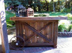 Barn wood bar