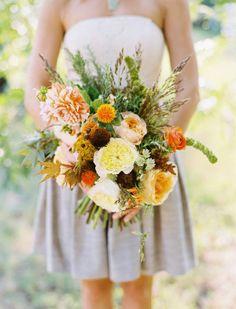 Orange peach flowers