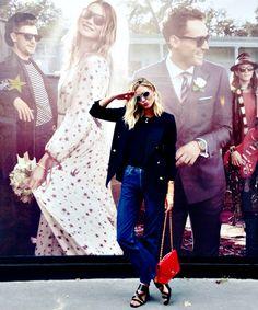 Adenorah qui nous déclare sa flamme pour son blazer Jeanne Damas x La Redoute. Totalement style à la française