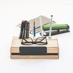 Organizador de escritorio hecho a mano madera / organizador de