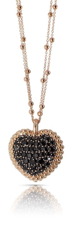 Rosamaria G Frangini | Modern Jewellery | Black Diamond Heart Necklace By Pasquale Bruni