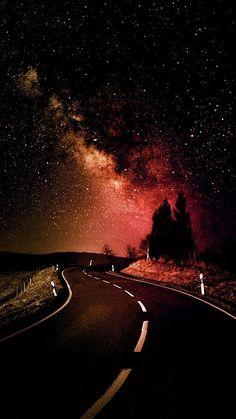 Imagen de stars, night, and road